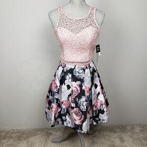 Sequin Hearts 2-piece lace & floral dress 13 NEW